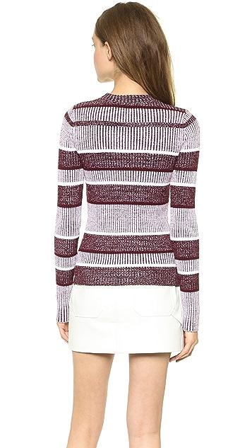 T by Alexander Wang Rib Long Sleeve Sweater