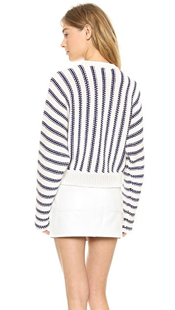 T by Alexander Wang Chunky Dolman Long Sleeve Pullover