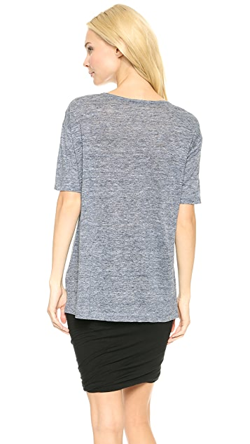 T by Alexander Wang Heathered Linen Oversized Tee