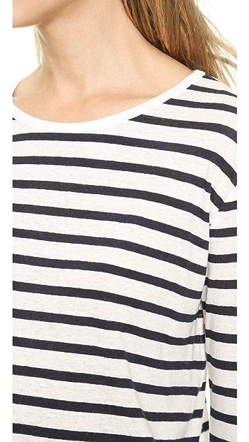 T by Alexander Wang Stripe Long Sleeve Tee