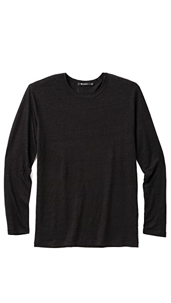 T by Alexander Wang Long Sleeve Linen T-Shirt