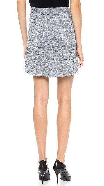 T by Alexander Wang Stretch Rayon Knit Miniskirt