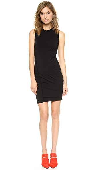 T by Alexander Wang Jersey Twist Draped Sleeveless Dress