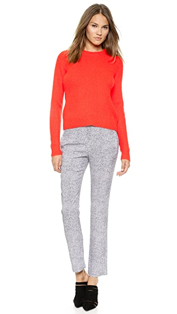 T by Alexander Wang Mohair Crew Neck Pullover