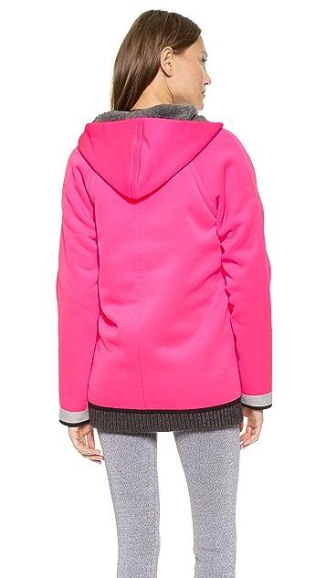 T by Alexander Wang Bonded Fleece Reversible Hooded Jacket