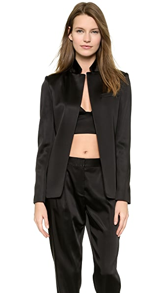 T by Alexander Wang Open Satin Blazer