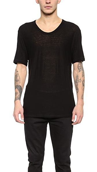 T by Alexander Wang Slub Low Neck T-Shirt
