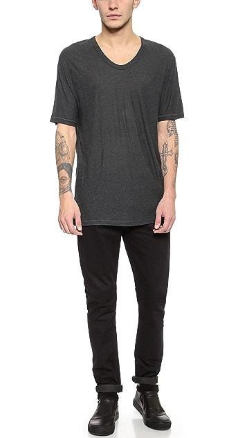 T by Alexander Wang Slub Low Neck T-Shirt