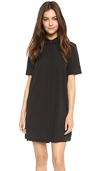 T by Alexander Wang Silk Shirt Dress