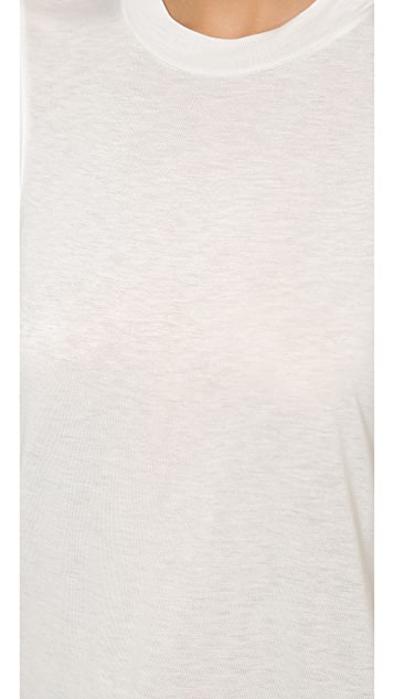 T by Alexander Wang Classic High Neck Flared Tank