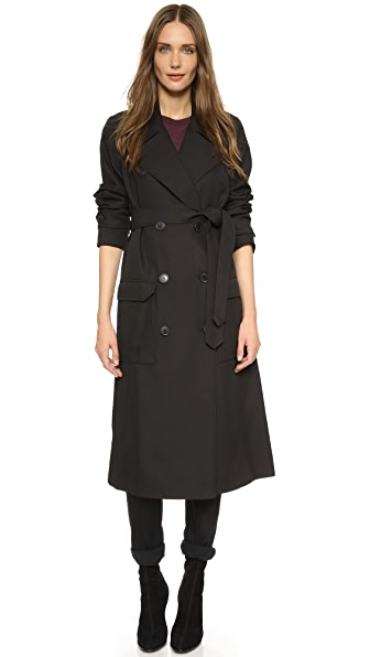 T by Alexander Wang Sleek Twill Trench Coat