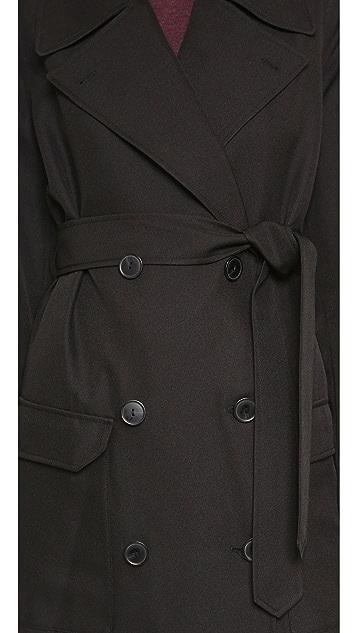 T by Alexander Wang Sleek Twill Trench Coat