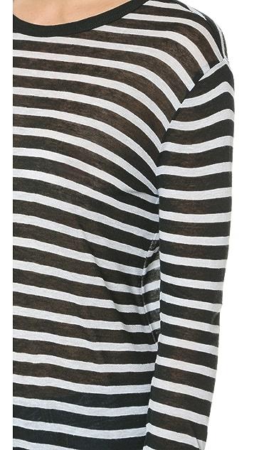 T by Alexander Wang Striped Long Sleeve Tee