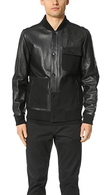 T by Alexander Wang Twill Combo Bomber
