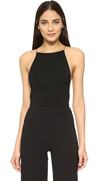 T by Alexander Wang Criss Cross Back Bodysuit - Black