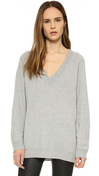 T by Alexander Wang Cashwool Deep V Sweater