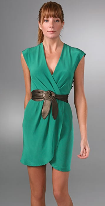 Twelfth St. by Cynthia Vincent Belted Wrap Dress