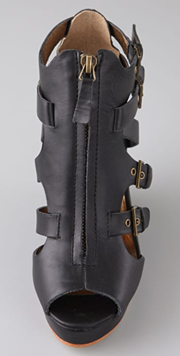 Twelfth St. by Cynthia Vincent Daryl Zip Wedge Sandals