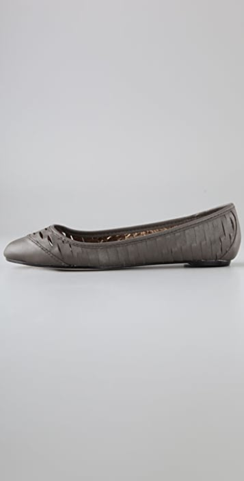 Twelfth St. by Cynthia Vincent Shadow Slashed Ballet Flats