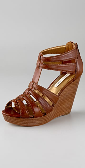 Twelfth St. by Cynthia Vincent Jackson T Strap Wedge Sandals