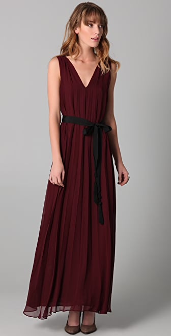 Twelfth St. by Cynthia Vincent Floor Length Pleated Dress