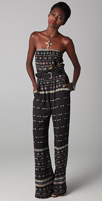 Twelfth St. by Cynthia Vincent Strapless Resort Jumpsuit