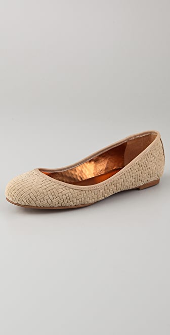 Twelfth St. by Cynthia Vincent Sage Suede Ballet Flats