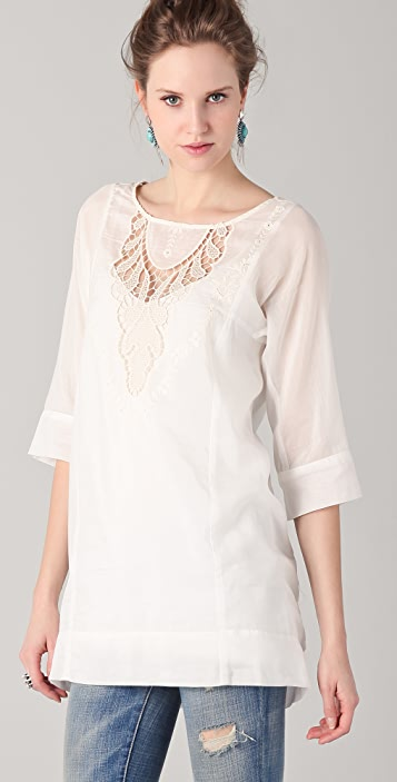 Twelfth St. by Cynthia Vincent Embroidered Lace Tunic