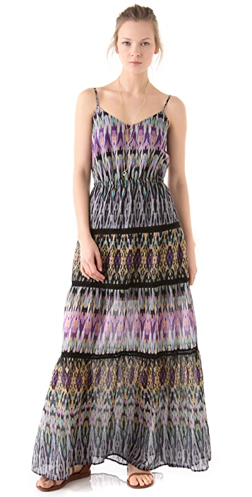 Twelfth St. by Cynthia Vincent Tiered Lace Maxi Dress