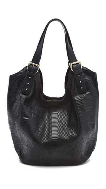 Twelfth St. by Cynthia Vincent Berkeley Large Embossed Snake Print Tote