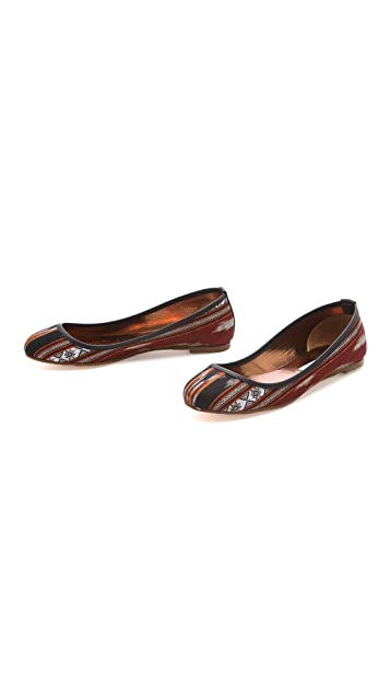 Twelfth St. by Cynthia Vincent Sage Ikat Ballet Flats