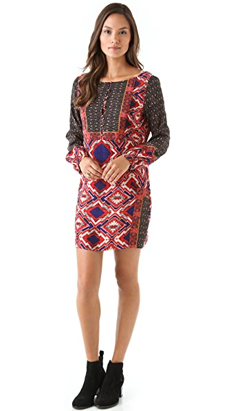 Twelfth St. by Cynthia Vincent Low V Back Printed Dress