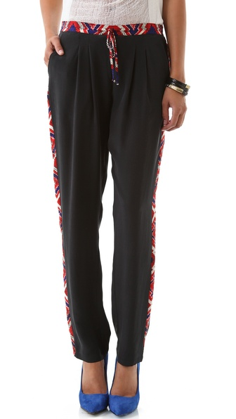Twelfth St. by Cynthia Vincent Drawstring Aztec Panel Pants