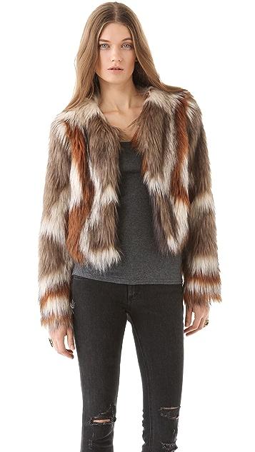 Twelfth St. by Cynthia Vincent Faux Fur Jacket