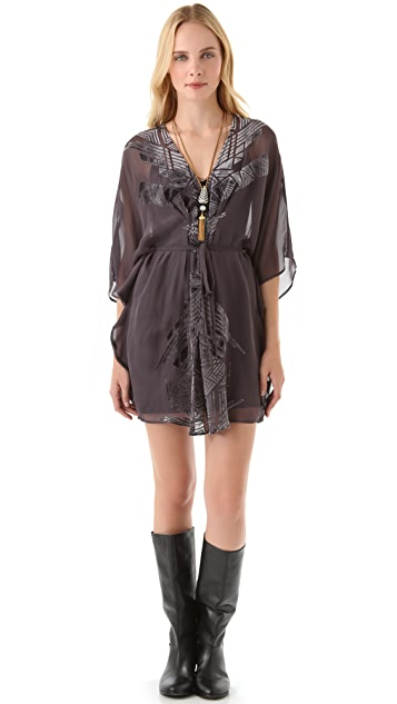 Twelfth St. by Cynthia Vincent Burnout Velvet Caftan Dress