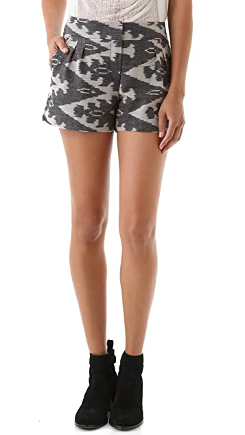 Twelfth St. by Cynthia Vincent Pleated Ikat Shorts