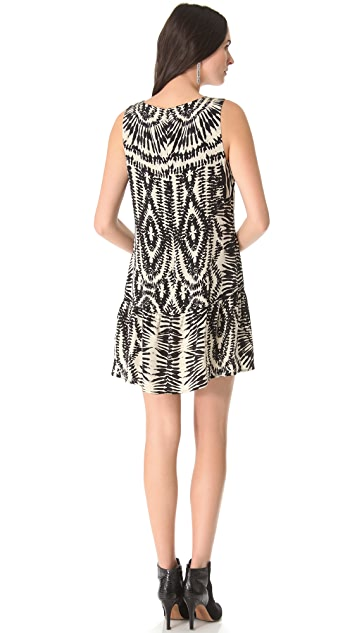 Twelfth St. by Cynthia Vincent Drop Waist Zebra Dress