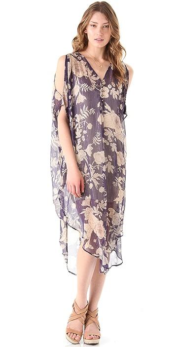 Twelfth St. by Cynthia Vincent Cold Shoulder Midi Caftan Dress