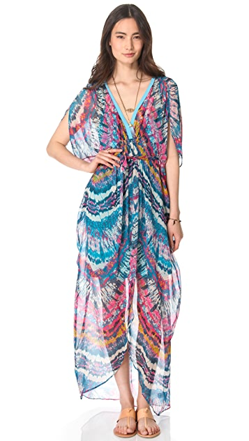 Twelfth St. by Cynthia Vincent Fabric Block Caftan Maxi Dress