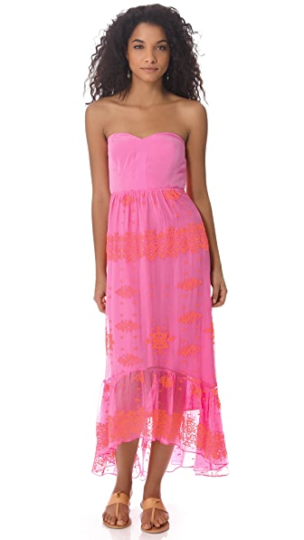 Twelfth St. by Cynthia Vincent Strapless Hi Low Dress