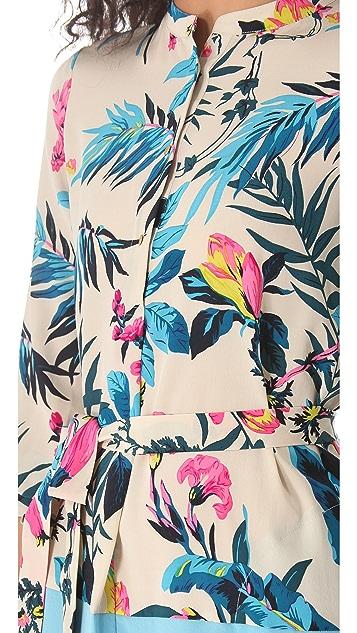 Twelfth St. by Cynthia Vincent Fabric Block Shirtdress