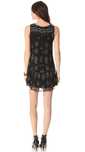 Twelfth St. by Cynthia Vincent Embroidered Shift Dress