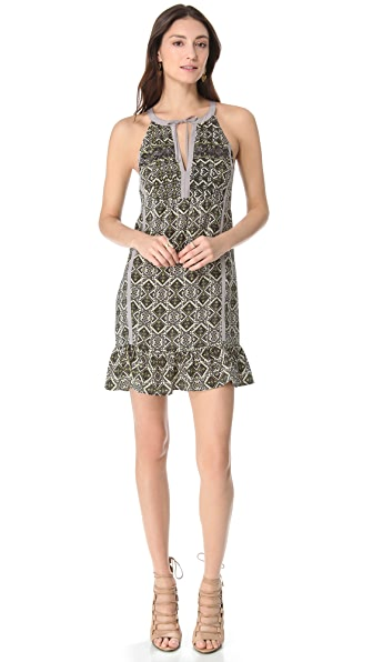 Twelfth St. by Cynthia Vincent Bib Front Mini Dress