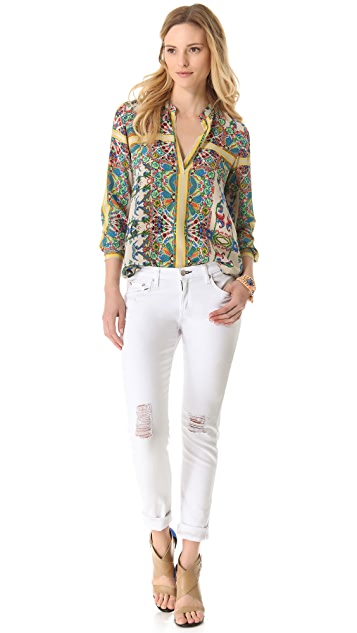 Twelfth St. by Cynthia Vincent Henley Blouse