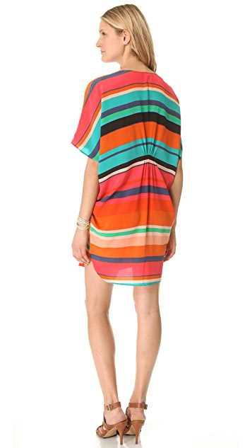 Twelfth St. by Cynthia Vincent V Neck Dolman Dress