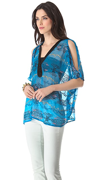 Twelfth St. by Cynthia Vincent Cold Shoulder Top