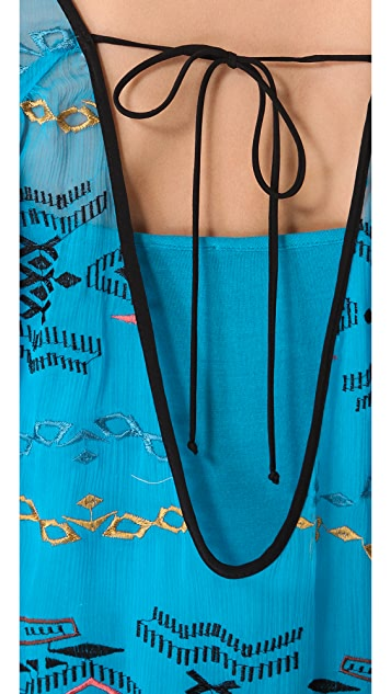 Twelfth St. by Cynthia Vincent Reversible Plunging Neck Dress