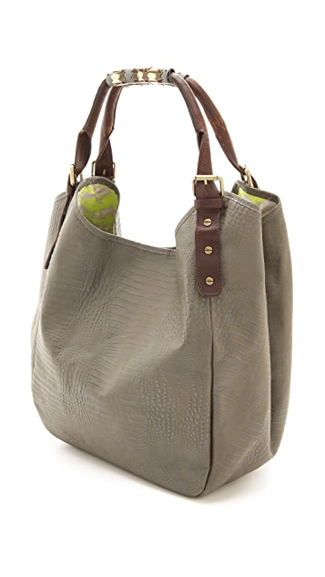 Twelfth St. by Cynthia Vincent Berkeley Embossed Lizard Bag