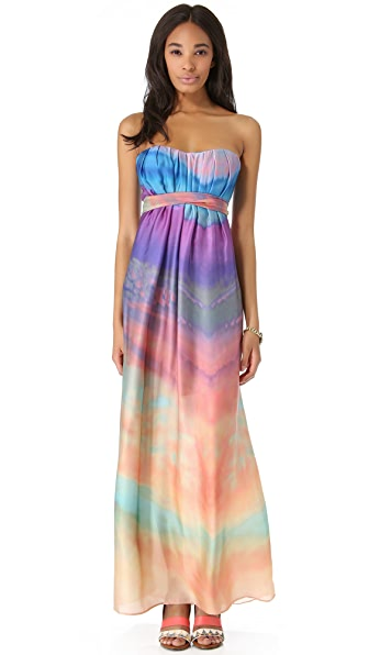 Twelfth St. by Cynthia Vincent Tie Back Strapless Maxi Dress
