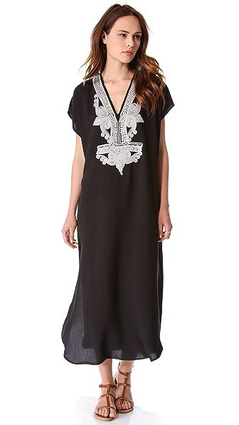 Twelfth St. by Cynthia Vincent Embellished Caftan Maxi Dress